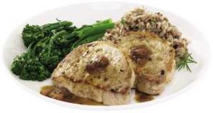 Handcrafted Taste Of Inspiration Cornbread Stuffed Pork Chop