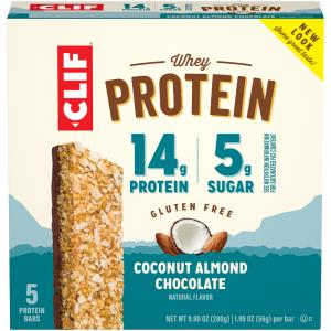 Clif Whey Protein Coconut Almond Chocolate Bars