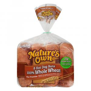 Nature's Own 100% Whole Wheat Hot Dog Rolls