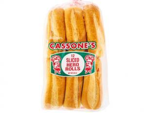 J.J.Cassone Enriched Enriched Sliced Hero Rolls