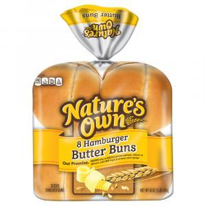 Nature's Own Butter Hamburger Buns