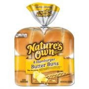 Nature's Own Butter Hamburger Buns