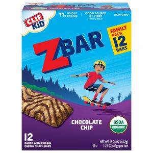 Clif Kid Organic ZBar Chocolate Chip Bars