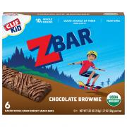 Clif Kid Organic ZBar Chocolate Brownie Bars