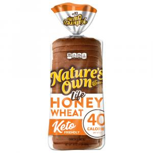 Nature's Own Light Honey Wheat Bread Keto Friendly