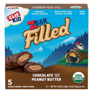 Clif Kid Organic Zbar Chocolate Peanut Butter Bars