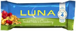 Clif Luna Toasted Nuts & Cranberries Bar