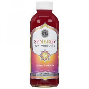 GT's Organic Lemon Berry Synergy Raw Kombucha