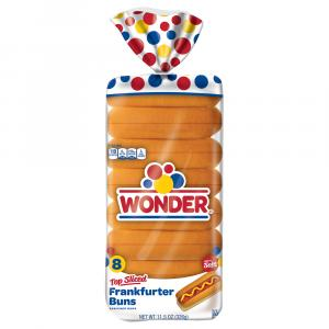 Wonder Hot Dog Buns Top Slice 8 Count