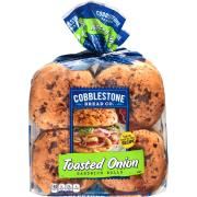 Cobblestone Bread Co. Toasted Onion Sandwich Rolls