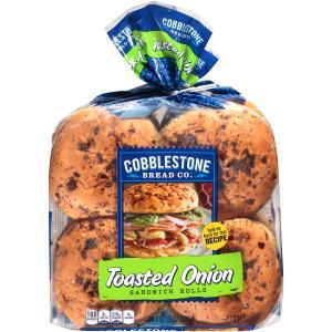 Cobblestone Bread Co. Toasted Onion Sandwich Rolls