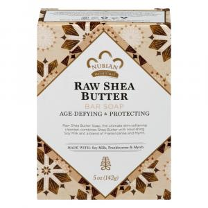 Nubian Heritage Raw Shea Butter Bar Soap with Soy Milk