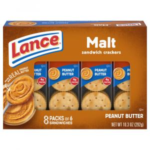 Lance Malt Crackers with Peanut Butter