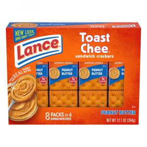 Lance Toast Chee Crackers with Peanut Butter