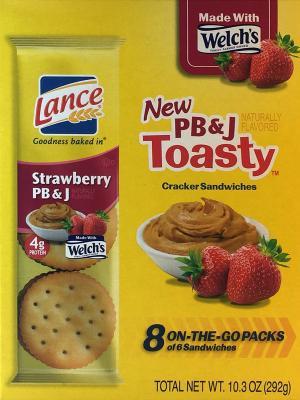 Lance Pb & J Toasty Sandwich Crackers