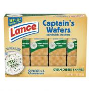 Lance Cream Cheese & Chives on Captain's Wafers
