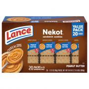 Lance Nekot Peanut Butter Sandwich Cookies