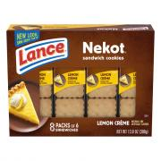 Lance Nekot Lemon Creme Filling Cookie Sandwiches
