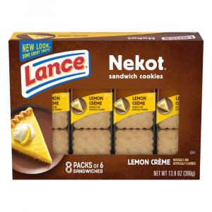 Lance Nekot Lemon Creme Filling Cookie Sandwiches