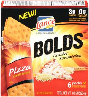 Lance Bolds Pizza Cracker Sandwiches