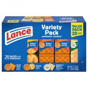 Lance Variety Pack Cracker Sandwiches