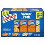 Lance Variety Pack Cracker Sandwiches