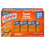 Lance Toastchee Crackers with Peanut Butter Family Size