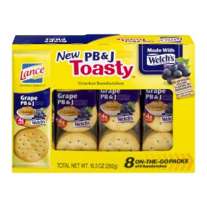 Lance Peanut Butter and Jelly Toasty Cracker Sandwiches