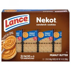 Lance Nekot Cookies with Peanut Butter