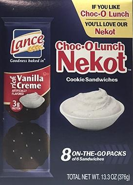 Lance Nekot Choc-O Lunch Cookie Sandwiches