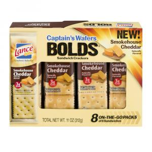 Lance Bolds Captain's Wafers Smokehouse Cheddar Crackers