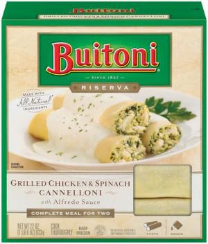 Buitoni Grilled Chicken & Spinach Cannelloni W/alfredo Sauce