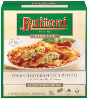 Buitoni Four Cheese & Spinach Ravioli W/tomato Basil Sauce