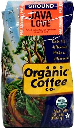 Organic Coffee Company Fair Trade Java Love Coffee