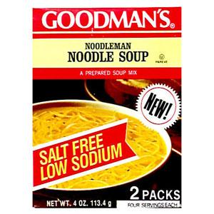 Goodman's Low Sodium Noodleman Soup Mix