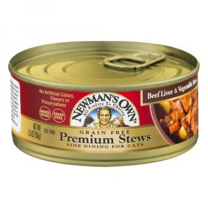 Newman's Own Premium Stews Grain Free Beef Liver & Vegetable