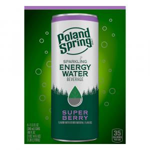 Poland Spring Sparkling Energy Water Super Berry