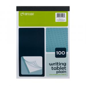 Top Flight Unruled Writing Tablet