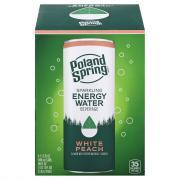Poland Spring Sparkling Energy Water White Peach