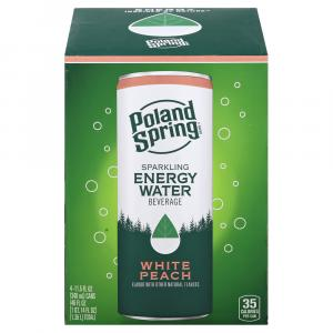 Poland Spring Sparkling Energy Water White Peach