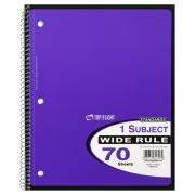 1-Subject Wide Rule Notebook