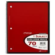 1-Subject College Rule Notebook