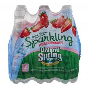 Poland Spring Sparkling Strawberry Spring Water