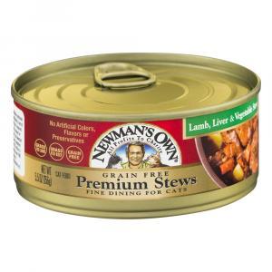 Newman's Own Grain Free Premium Stews Lamb Liver & Vegetable