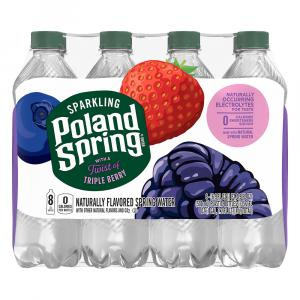 Poland Spring Sparkling Triple Berry Water