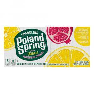 Poland Spring Sparkling Pomegranate Lemonade Natural Spring