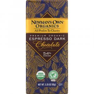 Newman's Own Organics Espresso Dark Chocolate