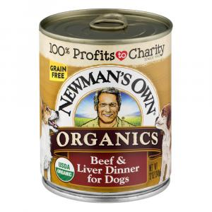 Newman's Own Organics Beef & Liver For Dogs