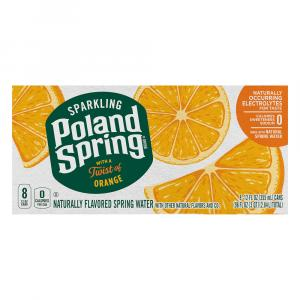 Poland Spring Sparkling Orange Natural Spring Water