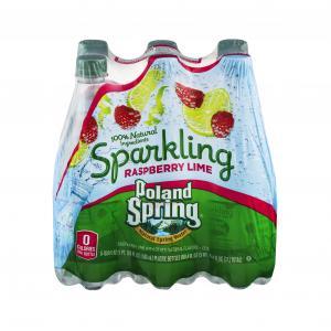 Poland Spring Sparkling Raspberry Lime Water
